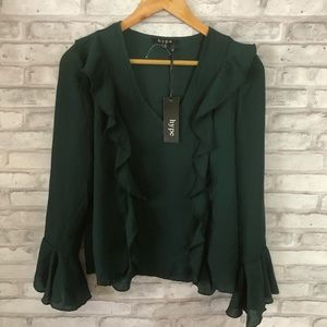 Bell sleeves Blouse nwt